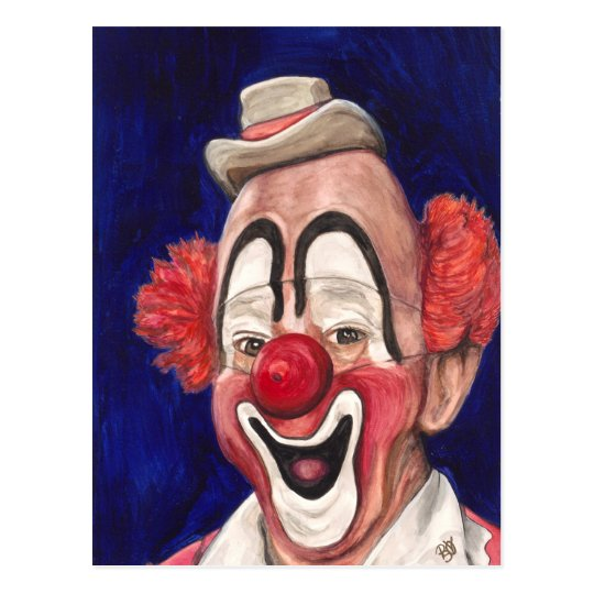 Master Clown Lou Jacobs Postcard