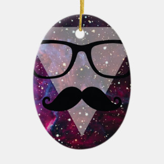 Master Disguise Space Funny Face Ceramic Oval Decoration