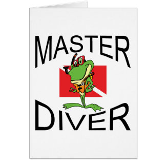 Master Diver SCUBA Cards