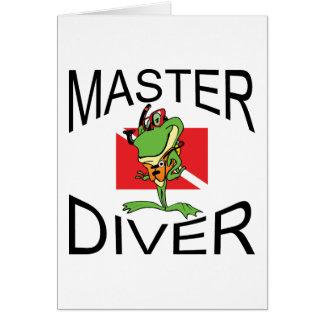 Master Diver SCUBA Greeting Card