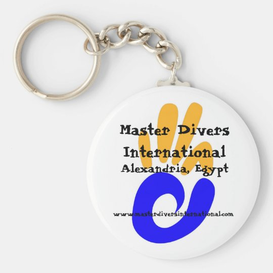 Master Divers International keyring Basic Round Button Key Ring
