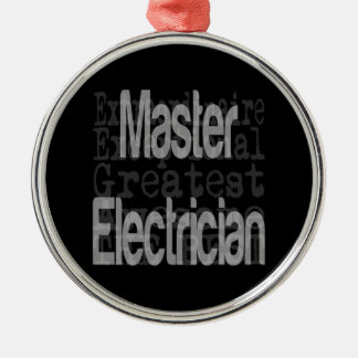 Master Electrician Extraordinaire Silver-Colored Round Decoration