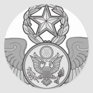MASTER ENLISTED AIRCREW WINGS ROUND STICKER