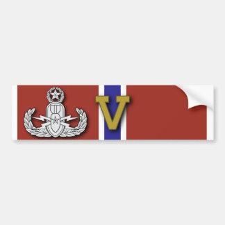 "Master EOD Bronze Star ""V"" Bumper Sticker"