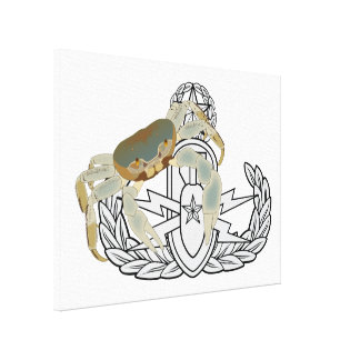 Master EOD Crab Stretched Canvas Print