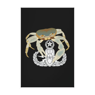 Master EOD Crab Stretched Canvas Prints