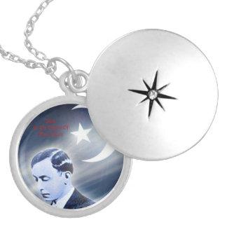 Master Fard Muhammad Round Locket Necklace