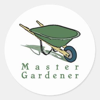 Master Gardener Round Sticker