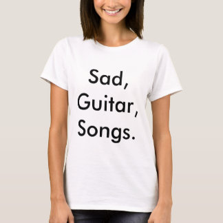 "Master Harker ""Sad, Guitar, Songs."" T-shirt"