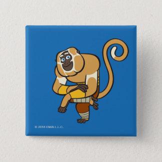 Master Monkey 15 Cm Square Badge