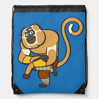 Master Monkey Drawstring Bag