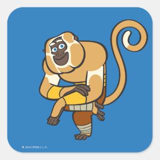 Master Monkey Square Sticker