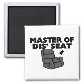 Master Of Dis' Seat Recliner Square Magnet