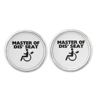 Master Of Dis' Seat Wheelchair Cufflinks
