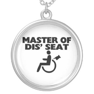Master Of Dis' Seat Wheelchair Silver Plated Necklace