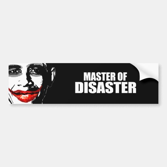 MASTER OF DISASTER BUMPER STICKER