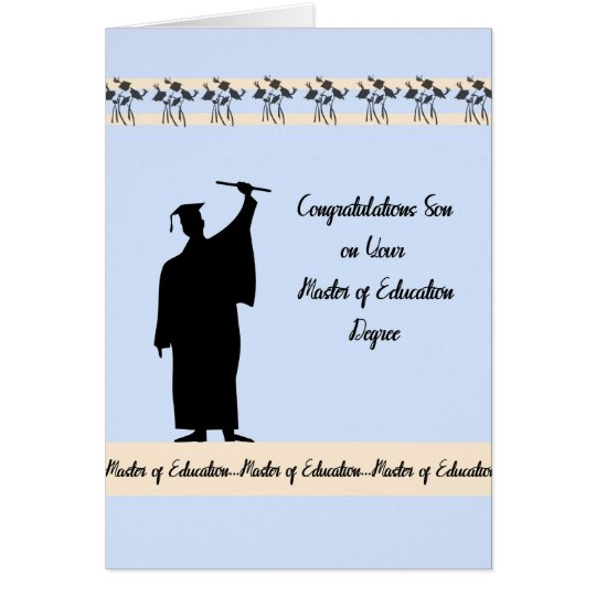Master of Education Degree Card for Son