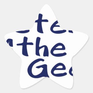 Master of the geeks star sticker