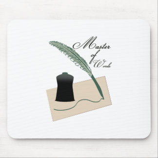 Master Of Words Mouse Pads