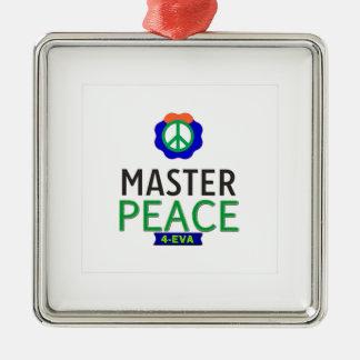 MASTER PEACE Silver-Colored SQUARE DECORATION