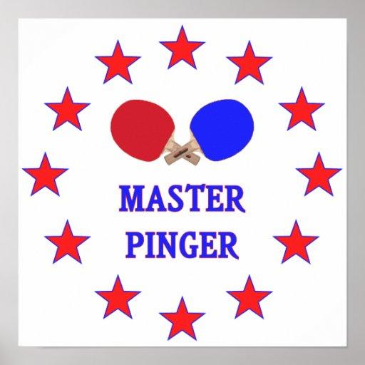 Master Pinger Ping Pong Print