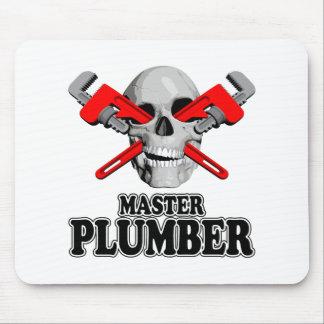 Master Plumbers Skull Mouse Mat