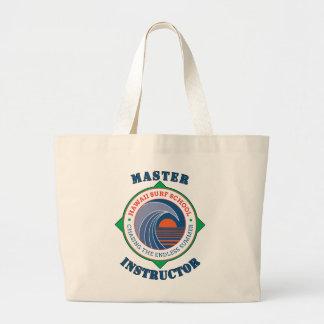Master Surfing Instructor Hawaiian Surf School Jumbo Tote Bag