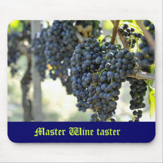 Master Wine taster with grapes Mouse Pad