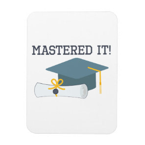 Mastered It Funny Graduation Gift  Masters Degree Magnet