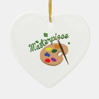 Masterpiece Ceramic Heart Ornament