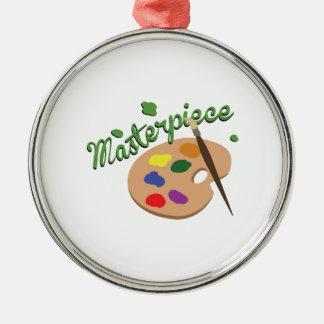 Masterpiece Silver-Colored Round Ornament