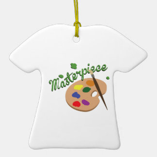 Masterpiece Double-Sided T-Shirt Ceramic Christmas Ornament
