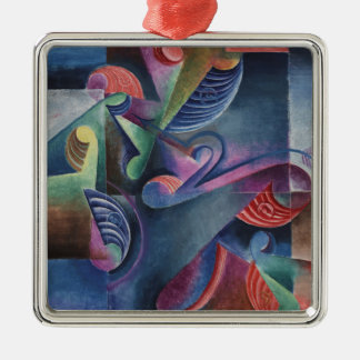 Masterpieces on the Christmas Tree- Molzahn Silver-Colored Square Decoration