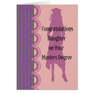 Masters Degree Card for Daughter