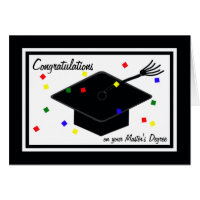 Masters Degree Graduation Card