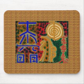 Masters REIKI Healing Symbol Art TEMPLATE wellness Mousepads