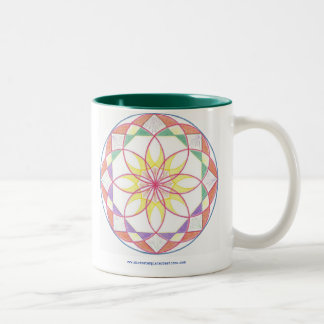 Mastery Mandala Two-Tone Coffee Mug
