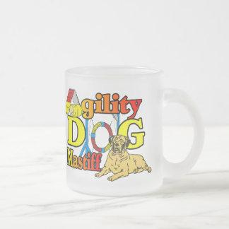 Mastiff Agility Dog Gifts Frosted Glass Coffee Mug