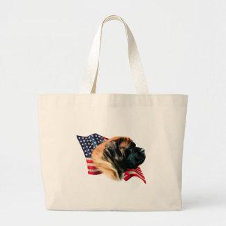 Mastiff (apricot) Flag Large Tote Bag
