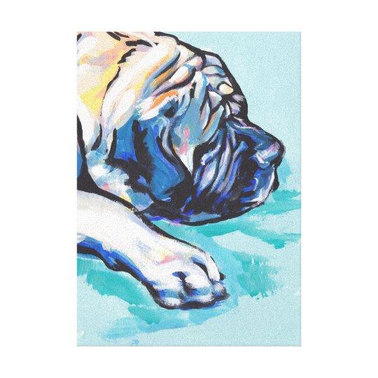 Mastiff Bright Colourful Pop Dog Art Canvas Print