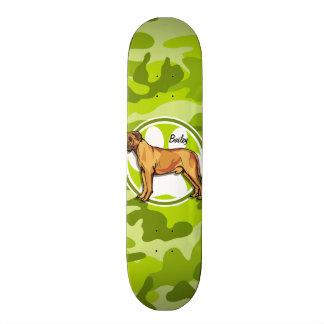 Mastiff; bright green camo, camouflage skate boards