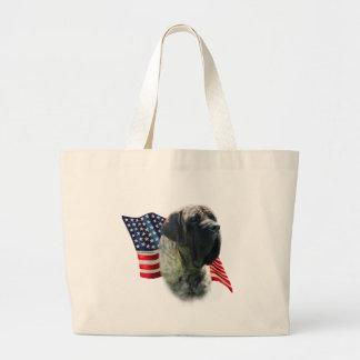 Mastiff (brindle) Flag Large Tote Bag