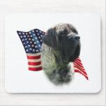 Mastiff (brindle) Flag Mouse Pad