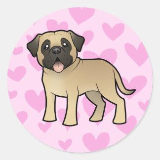 Mastiff / Bullmastiff Love Classic Round Sticker