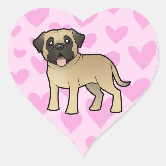 Mastiff / Bullmastiff Love Heart Sticker