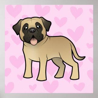 Mastiff / Bullmastiff Love Poster