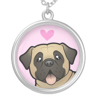 Mastiff / Bullmastiff Love Silver Plated Necklace