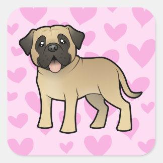 Mastiff / Bullmastiff Love Square Sticker