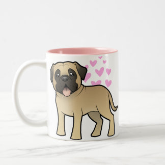 Mastiff / Bullmastiff Love Two-Tone Coffee Mug