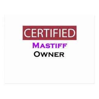 Mastiff Certified Owner Postcard